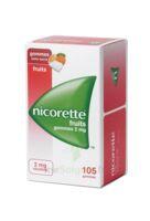 Nicorette 2 Mg Gomme à Mâcher Médicamenteuse Sans Sucre Fruits Plq/105 à TOUCY