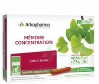 Arkofluide Bio Ultraextract Solution Buvable Mémoire Concentration 20 Ampoules/10ml à TOUCY