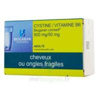 Cystine/vitamine B6 Biogaran Conseil 500 Mg/50 Mg Cpr Pell Plq/120 à TOUCY
