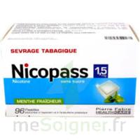 Nicopass 1,5 Mg Pastille Sans Sucre Menthe Fraîcheur Plq/96 à TOUCY