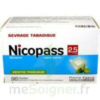 Nicopass 2,5 Mg Pastille Menthe Fraîcheur Sans Sucre Plq/96 à TOUCY
