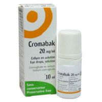 Cromabak 20 Mg/ml, Collyre En Solution à TOUCY