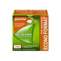 Nicorette 2 Mg Gomme à Mâcher Médicamenteuse Sans Sucre Fruits Plq/210 à TOUCY
