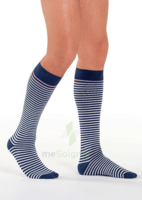 Sigvaris Styles Motifs Mariniere Chaussettes  Homme Classe 2 Marine Blanc Small Normal à TOUCY